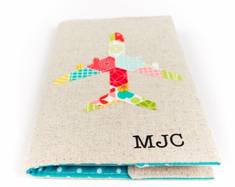 Colourful Monogram Passport Holder Children's Passport Cover Personalised Girly Name Initial Travel Gifts for Kids