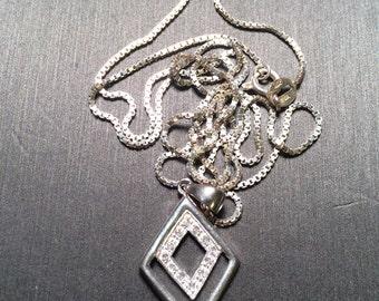 925 Sterling Silber Halskette Form mit cz