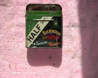 A vintage Half & Buckingham Tobacco Tin
