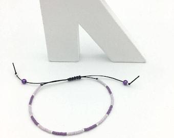 Bracelet MINI violet et argenté n° 2