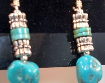 52-Kingman Mine Turquoise Earrings