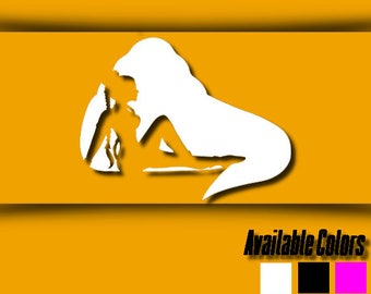 Vinyl Decal - Star Wars Decal - Slave Leia/Jabba the Hutt Decal