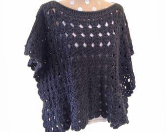 crochet poncho pattern - Pollyanna Poncho crochet pattern crochet shawl pattern womens boho poncho crochet pdf file