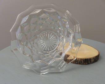 Vintage . Fostoria Crystal . Mayonnaise Bowl . Dip . Wedding . Gift . Nut . Dish . Classy . Victorian . Geometric . Early American . Small