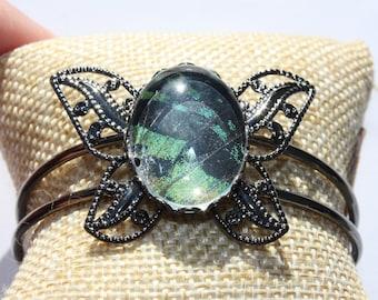 Madagascar Sunset Moth Bangle Bracelet 048