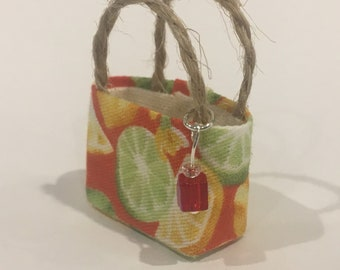 """Fruits tote bag in 1:24 scale 1/2"""""""