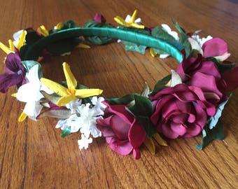 Burgundy Rose Crown