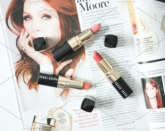 Styled Stock Photo | Lipsticks & Magazines | Blog stock photo, stock image, stock photography, blog photography