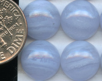 BLUE LACE AGATE One 10mm Round Cabochon A grade natural color