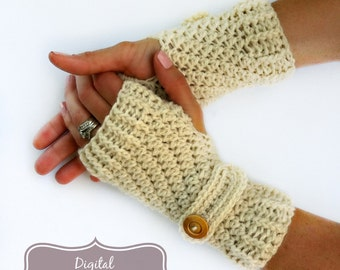 Fingerless Gloves Crochet Pattern No.914 Glove Crochet Pattern Straps Digital Download PDF English