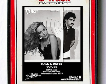 "Jerry Hall and Oates ""Voices"" 8-Track Tapes and Japes, original framed art by Zteven"