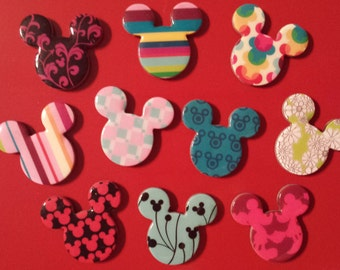 MOUSE MAGNETS (TEN) - Mighty magnets full of Disney fun! | Wedding Favors | Gift | Fish Extenders