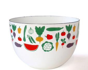 Vintage Arabia Finel Bowl Kaj Franck Enamelware
