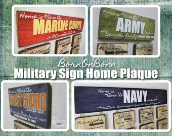 Military Home Sign - Home is where the Army, Navy, Air Force, Marine Corps, Coast Guard, Sends Us - small - medium -  large - x-large sign