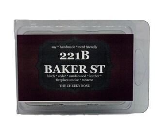 221B Baker St Wax Melts, Fireside Wax Melt, Smoke Scent, Scented Wax Melts, Soy Melt, Wax Melt, Fireplace Scent, Wax Tart, Book Wax Melt