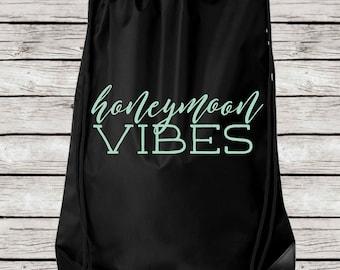 Honeymoon Vibes Tote Bag, Honeymoon Vibes Drawstring Tote Bag