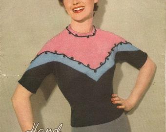 Hand Knitwear in Lavenda 231 - Merida Jumper (Pdf format)