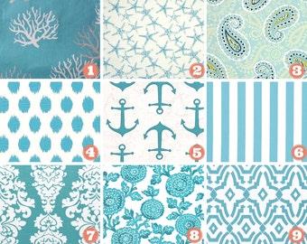 Coastal Blue Pillow Covers, Starfish Pillows Covers, Anchor Pillow Cover, Floral Pillow Cover, Mums Pillow Cover, Beach Decor, Summer Pillow