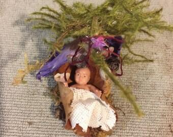 Miniature Fairy Fern Baby, Miniature Fairy Baby, Miniatures, Fairy Garden, Terrarium, Flowerpot Garden, Forest Baby, Woodland Baby