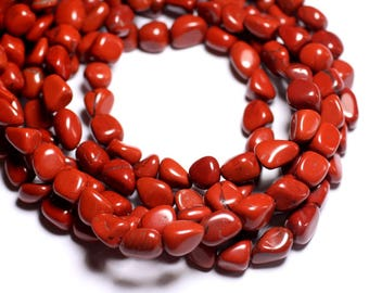 10pc - stone beads - Jasper red Nuggets 6-9mm - 4558550019677