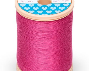 Cotton + Steel Thread by Sulky - 100% Cotton 50 wt - Bright Pink