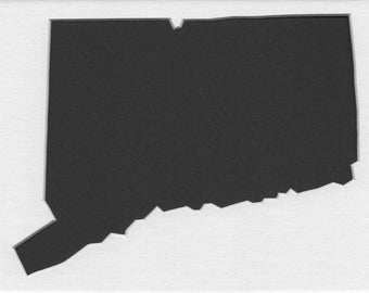Pack of 3 Connecticut State Stencils,Made from 4 Ply Mat Board 16x20, 11x14 and 8x10