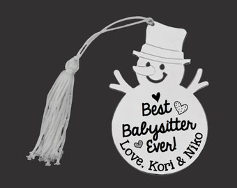 Personalized Ornament | Custom Ornament | Snowman Ornament | Personalized Christmas Ornaments | Babysitter Gift | Christmas Gifts