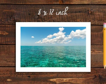 Photo Print of Caribbean Beach Palancar in 5 Sizes w/ Mounting and Size Option