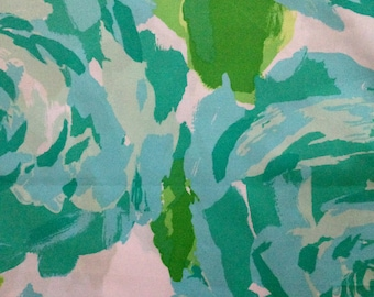 """poolside blue first impression poplin cotton fabric square 17""""x17"""" ~ lilly pulitzer"""