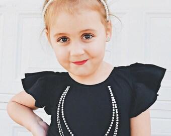 Necklace Leotard - toddler leotard - girl leotard - child leotard - gymnastics leotard - glitter leotard - dance leotard - fancy leotard
