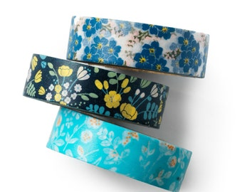 Floral Washi tape set - summer flower - value pack - DIY - packaging - decorative tape - weddings - Love My Tapes