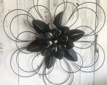 Metal Flowers, Wall Decor, Patio Decor, Back Porch Decor,
