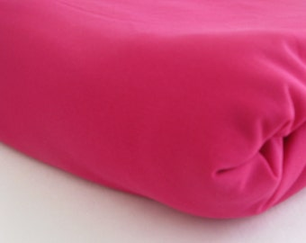 vintage DARK PINK POLYESTER, measures 62 inches by 10 yards
