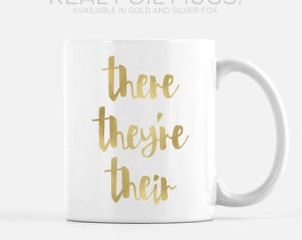 Real Foil Mug Coffee Mug Grammar Mugs for Teachers Gold Foil Silver Foil Teachers Mugs Unique Mugs Funny Mugs Teacher Gift Ideas for Her
