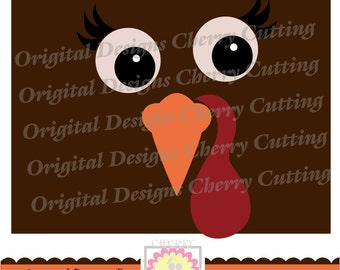 Turkey face,Thanksgiving Turkey, Turkey Face SVG, Turkey Silhouette Cut Files, Cricut Cut Files DGCUTTH2  -Personal and Commercial Use