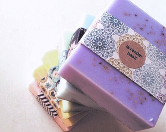 SOAP Gift Set of 6 bars: natural bar soap