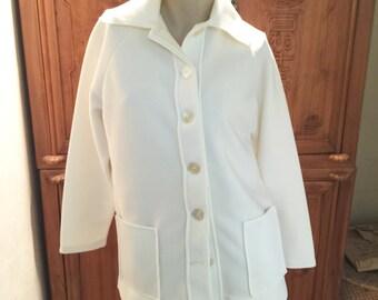 60s 70s Bohemian Chic Waldorf Hedi Hedy Knits California Sweater Jacket Cardigan Mid Century Minimalist