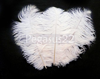 WHITE Ostrich Feather Drab (6-8 inches, 3 package option) feather for hat,fascinator,hat,corset,dresses,bouquets, costume,fans