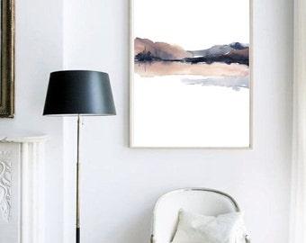 Charcoal Art, Sepia Print, Popular Item, Large Abstract Painting Print Art, Trending Art, Best Selling Art, Etsy Watercolor, Trending Now