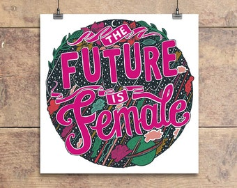 The Future Is Female - Greeting Card - Feminist - Feminism