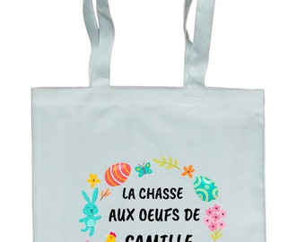 TOTE BAG purse Easter persnnalise with name of your choice