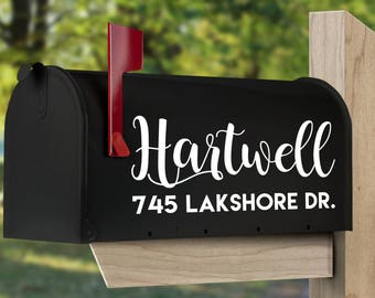 Custom mailbox decal.  Personalized mailbox sticker, set of two or one decals.