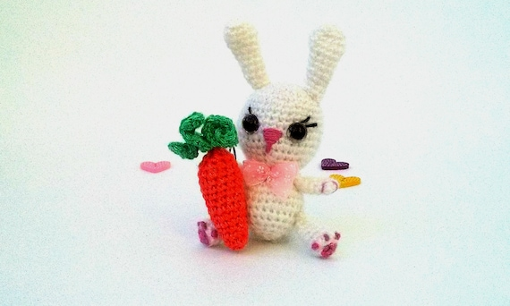 Knitting Easter Bunnies : Handmade toy bunny rabbit easter knitted with