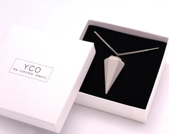 Gioielli CALCESTRUZZO  concrete jewelry concrete necklace beton jewelry, concrete for woman industrial jewelry necklace for gift women  yco