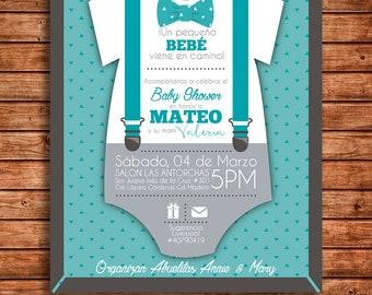 dafe22297 Invitación Baby Shower Niño - Baby Shower Boy Invitation