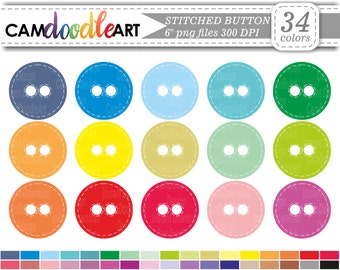 Button Clipart, Sewing Clipart, Sew Clipart, Digital Clip Art, Cardmaking Clipart, Instant Download Clipart, png file
