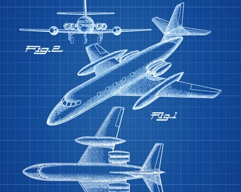 1961 Lockheed Airplane Patent - Vintage Airplane, Airplane Blueprint, Airplane Art, Pilot Gift,  Aircraft Decor, Airplane Poster, Jet