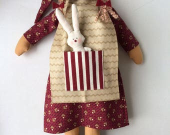 Textile doll Rag doll Stuffed doll Softie doll Handmade Fabric doll Tilda doll Cloth doll Small little doll Children toy Miniature dolls