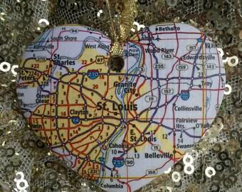 St. Louis Map Ornament