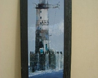Painting of a lighthouse, Julian Taylor